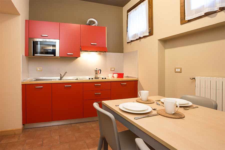 Cucina di Appartamento Monolocale