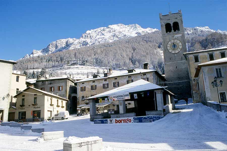 Piazza Bormio d'Inverno